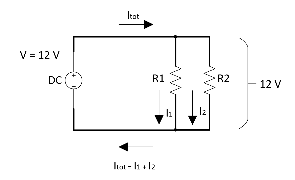 Total Resistance In Circuit With Parallel And Series Resistors